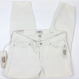 Vintage American Blues White Boho Capri Jeans NWT